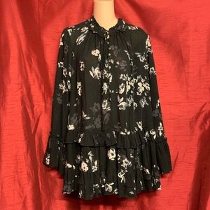 Free People Dresses - Free People Button Down Floral Dress Size Small
